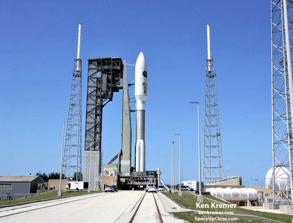 2018 APRIL 14th ULA ATLAS 551 AFSPC-11 SATELLITE AIR FORCE PAD 41 CAPE KENNEDY