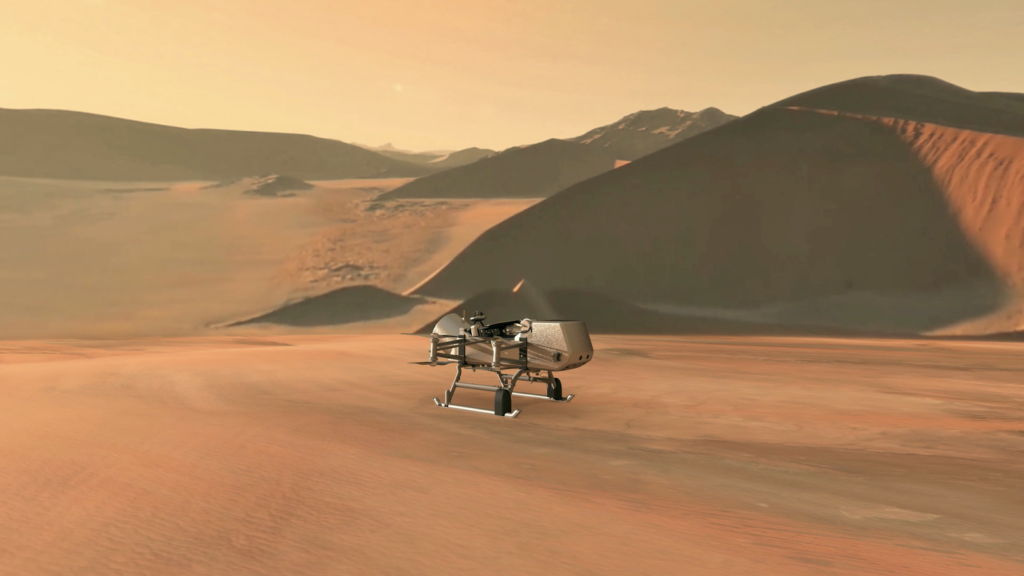 NASA Selects Dragonfly Quadcopter to Land and Fly Around Saturn's Moon Titan to Search for Signs of Life