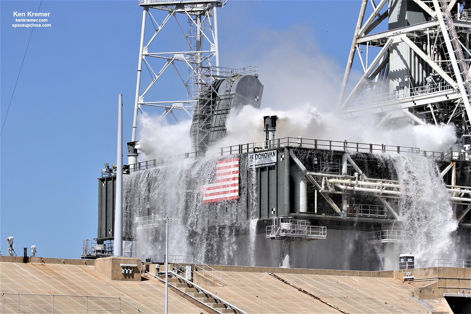 Kennedy Completes Final Water Flow Test at Pad 39B for SLS Artemis 1 Moon Rocket