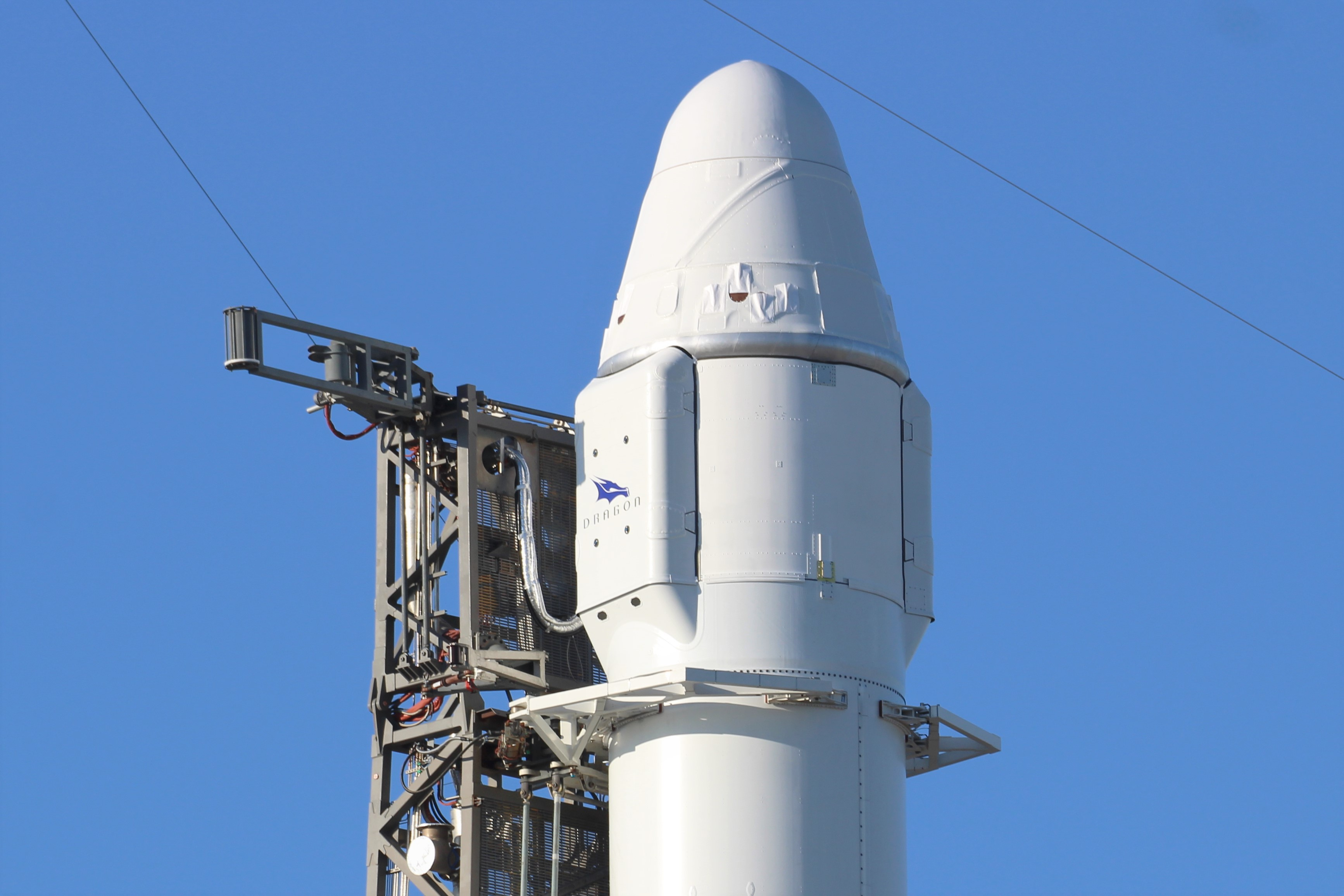 SpaceX Dragon Poised for Lunchtime Liftoff on Resupply Mission for NASA to Space Station