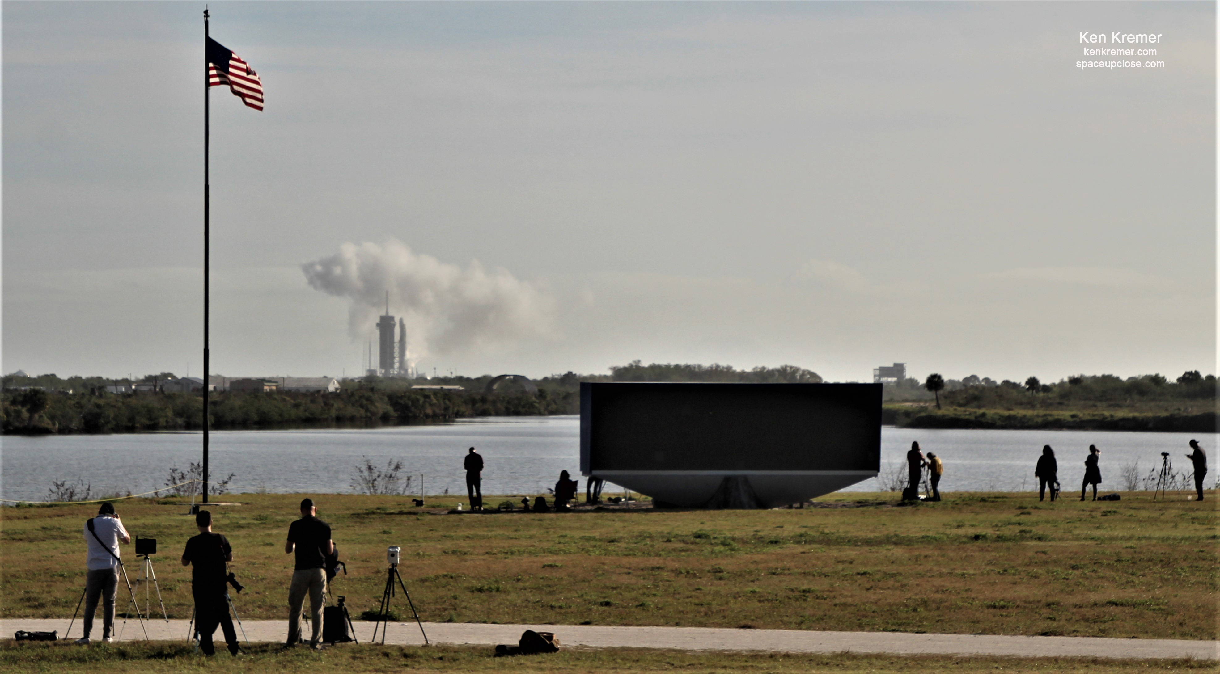 SpaceX Aborts Falcon 9 Starlink Launch After Engine Ignition: Photos