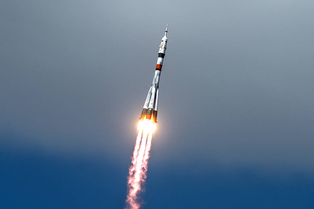 New Russian-American Trio Launches on Soyuz and Docks to Space Station