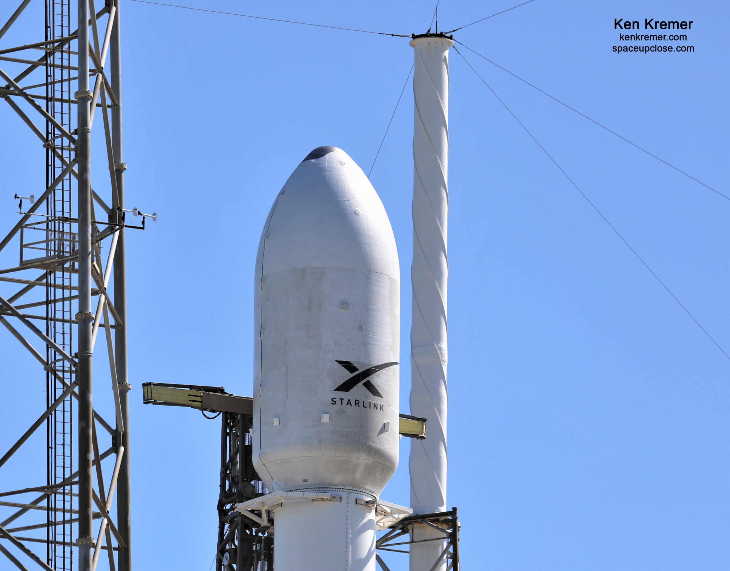 UpClose with SpaceX Starlink Poised for Liftoff with 1st Rideshare for Planet SkySats: Watch Live/Photos