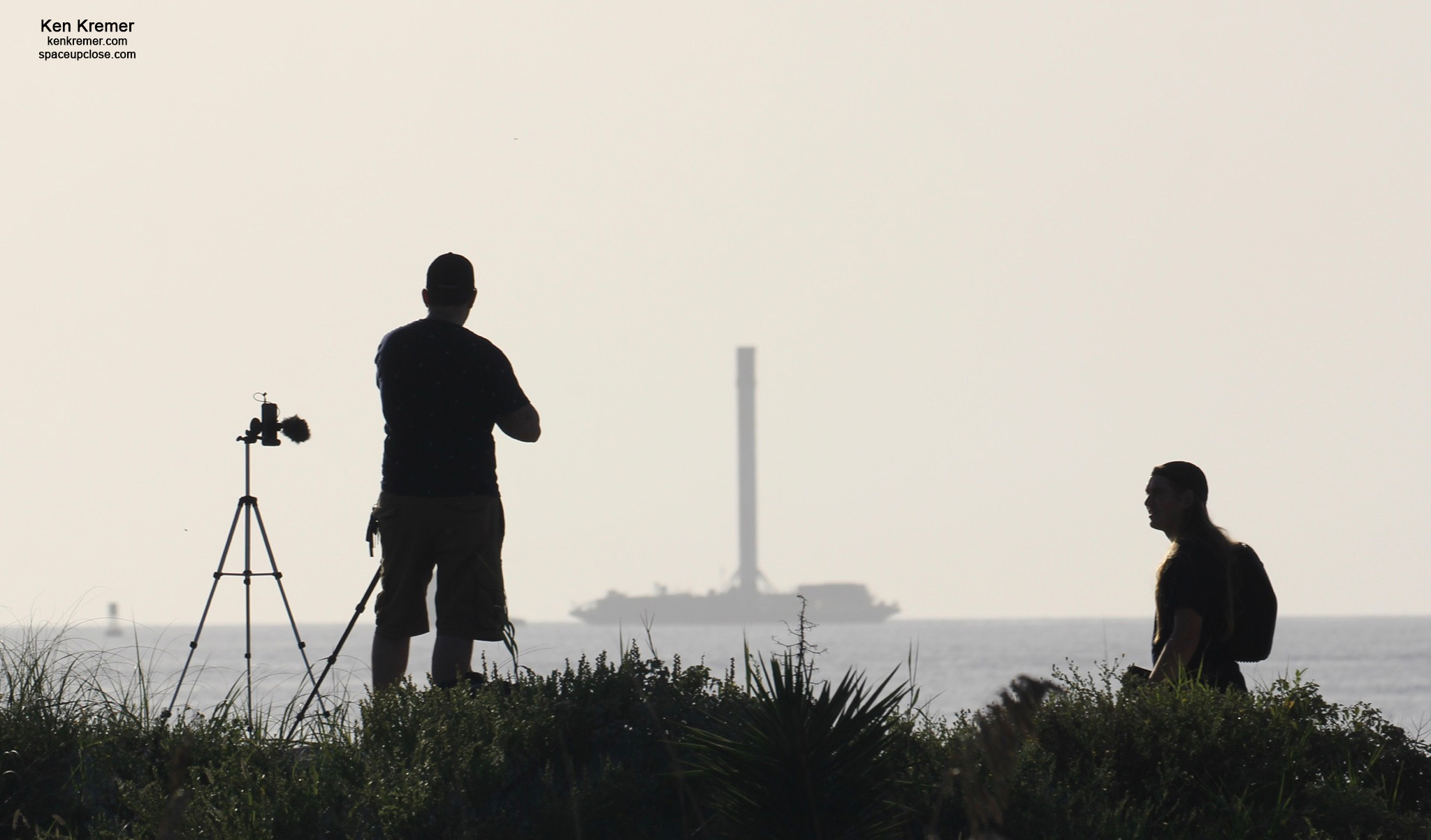 Sterling Sunday Sunrise Return for 2x Flown SpaceX Starlink Booster to Port Canaveral: Photos