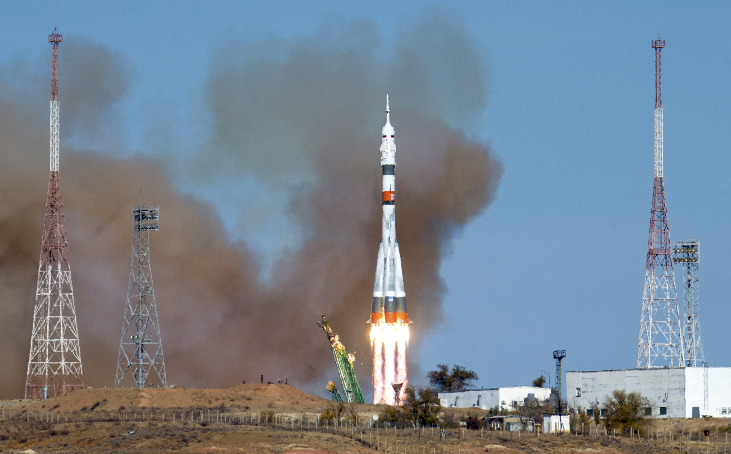 NASA Astronaut Kate Rubins Launches to Space Station with Russian Crewmates on Soyuz