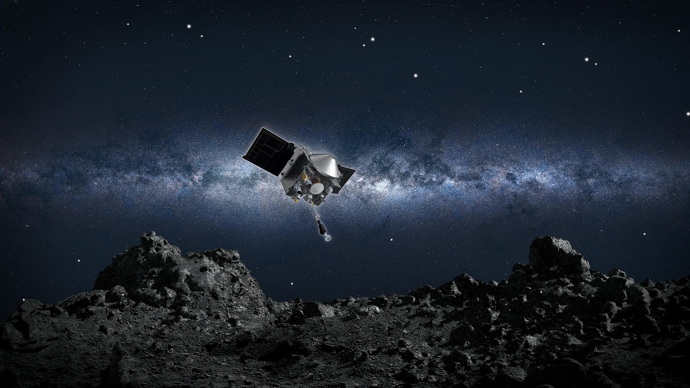 NASA's OSIRIS-REx Spacecraft Briefly Lands on Asteroid Bennu for Sample Collection Attempt