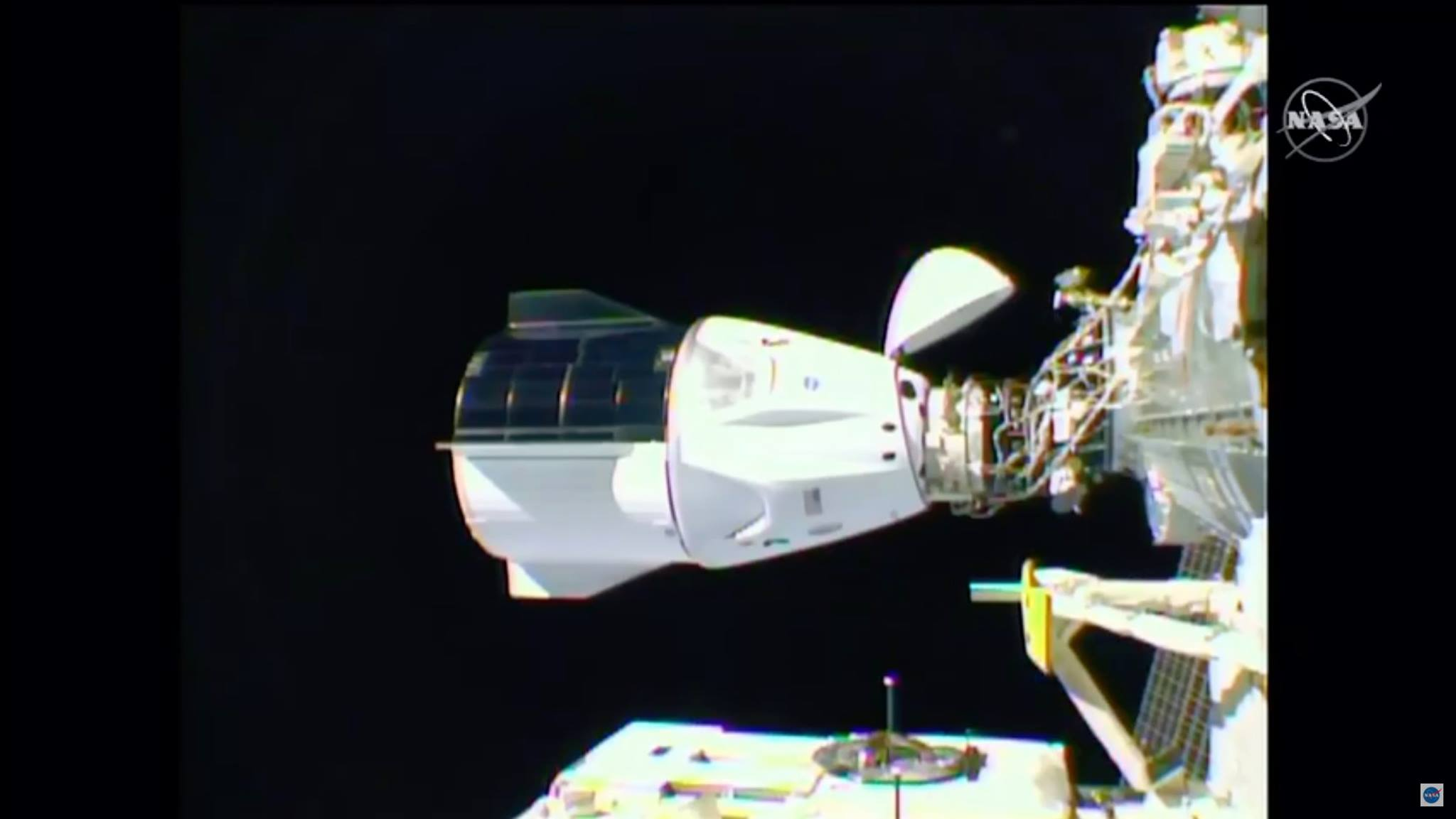 SpaceX Crew Dragon Docks at International Space Station Starting 1st Seven Person Crew