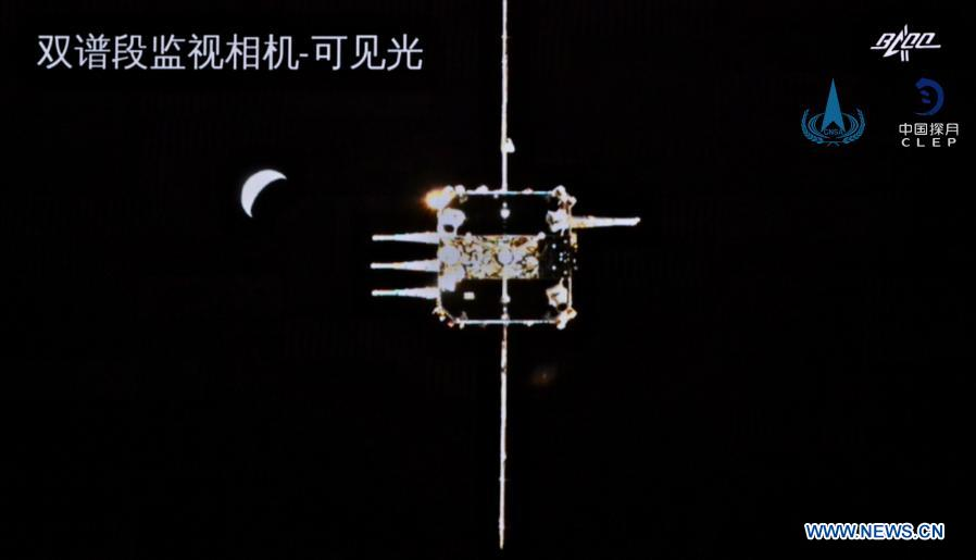 China Change'5 Probe Heading Back to Earth after Collecting Lunar Surface Samples and 1st Robotic Lunar Orbit Linkup
