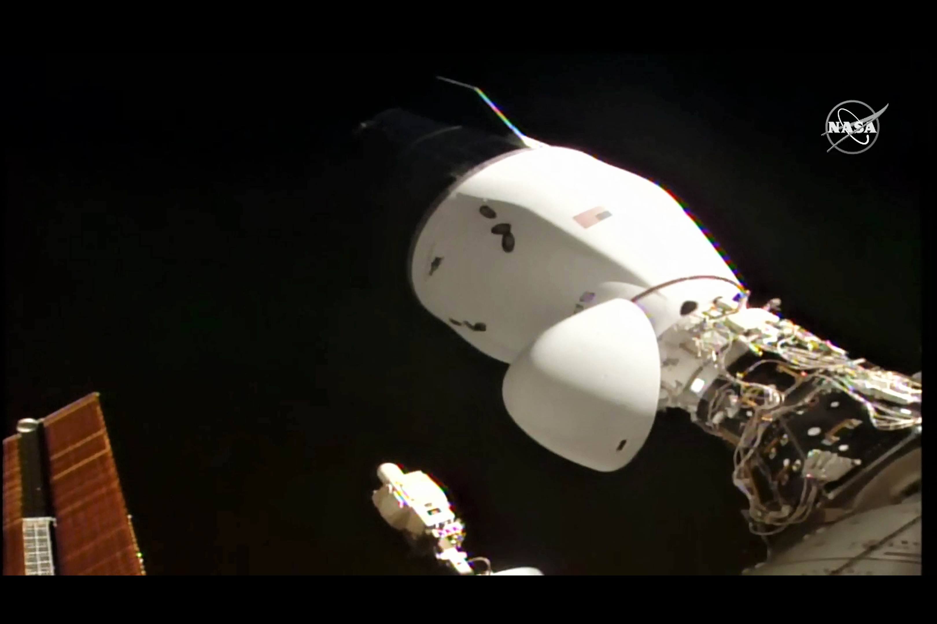 1st Next Generation Cargo Dragon Docks at International Space Station with NASA Science and New Airlock