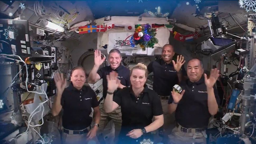 Merry Christmas and Happy Holidays Well Wishes from Astronauts Aboard the International Space Station