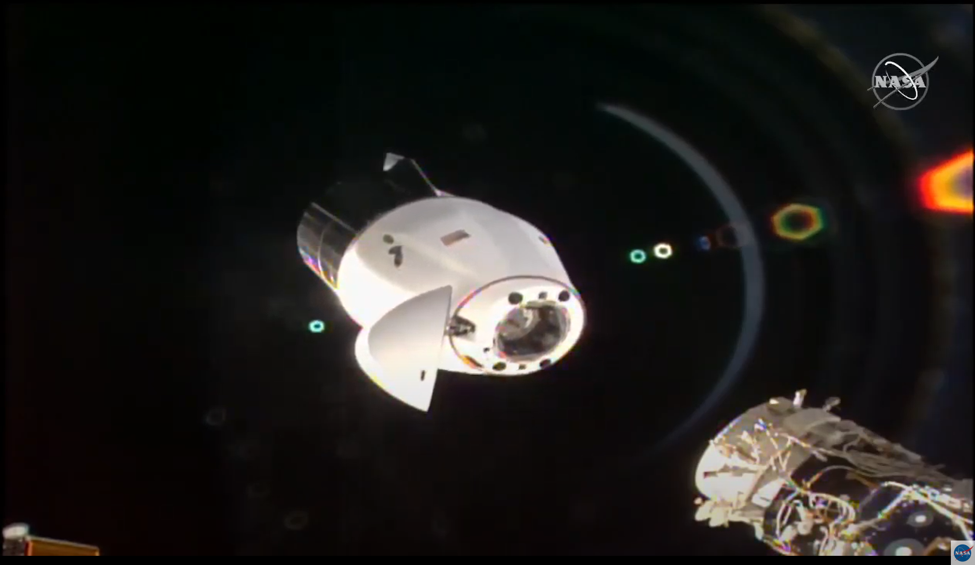 1st Next Generation SpaceX Cargo Dragon Undocks from Space Station Targeting Tampa Splashdown Zone