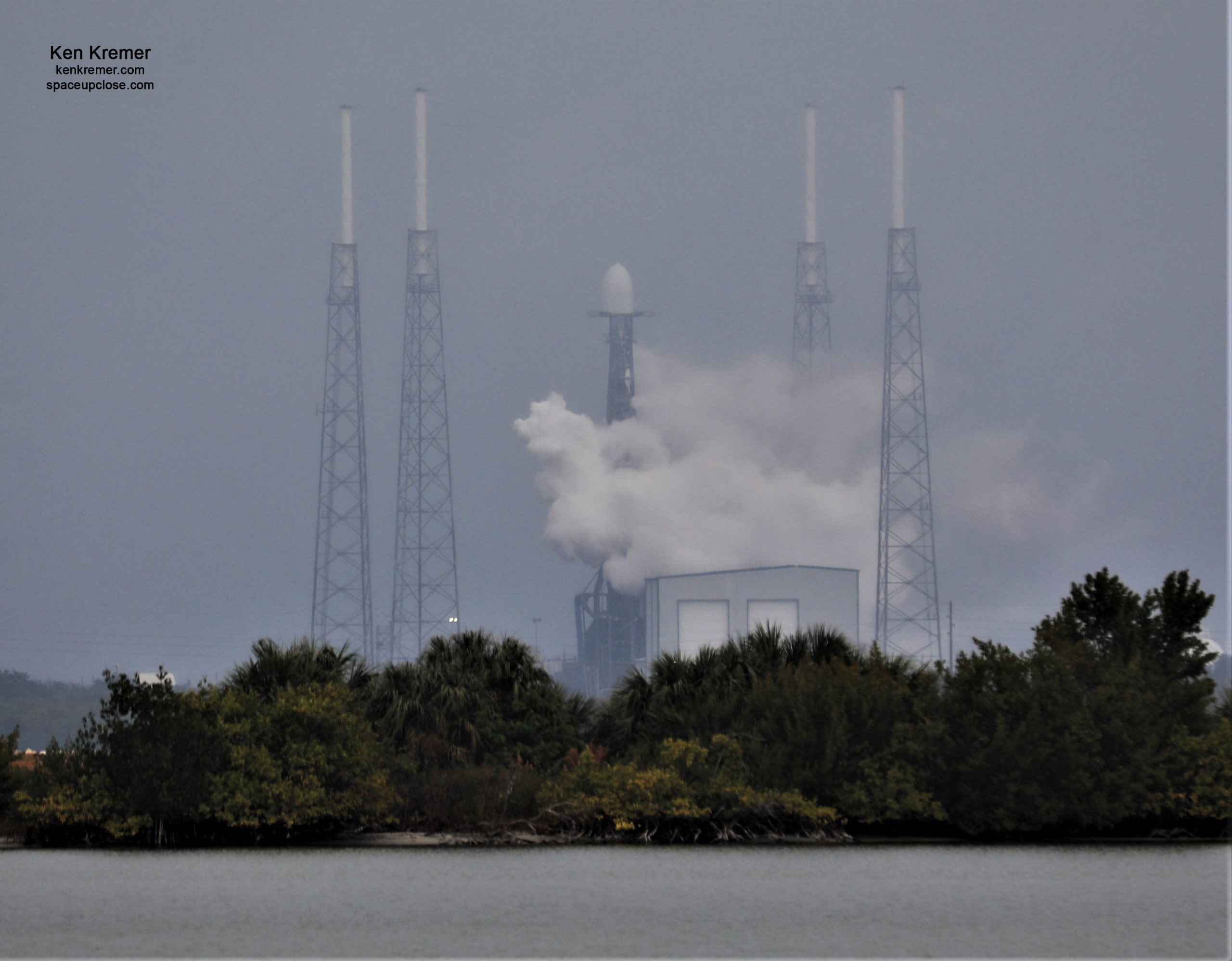 Dismal Weather Scrubs Falcon 9 Transporter-1 Launch Attempt, SpaceX Retargets Jan. 24: Watch Live/Photos