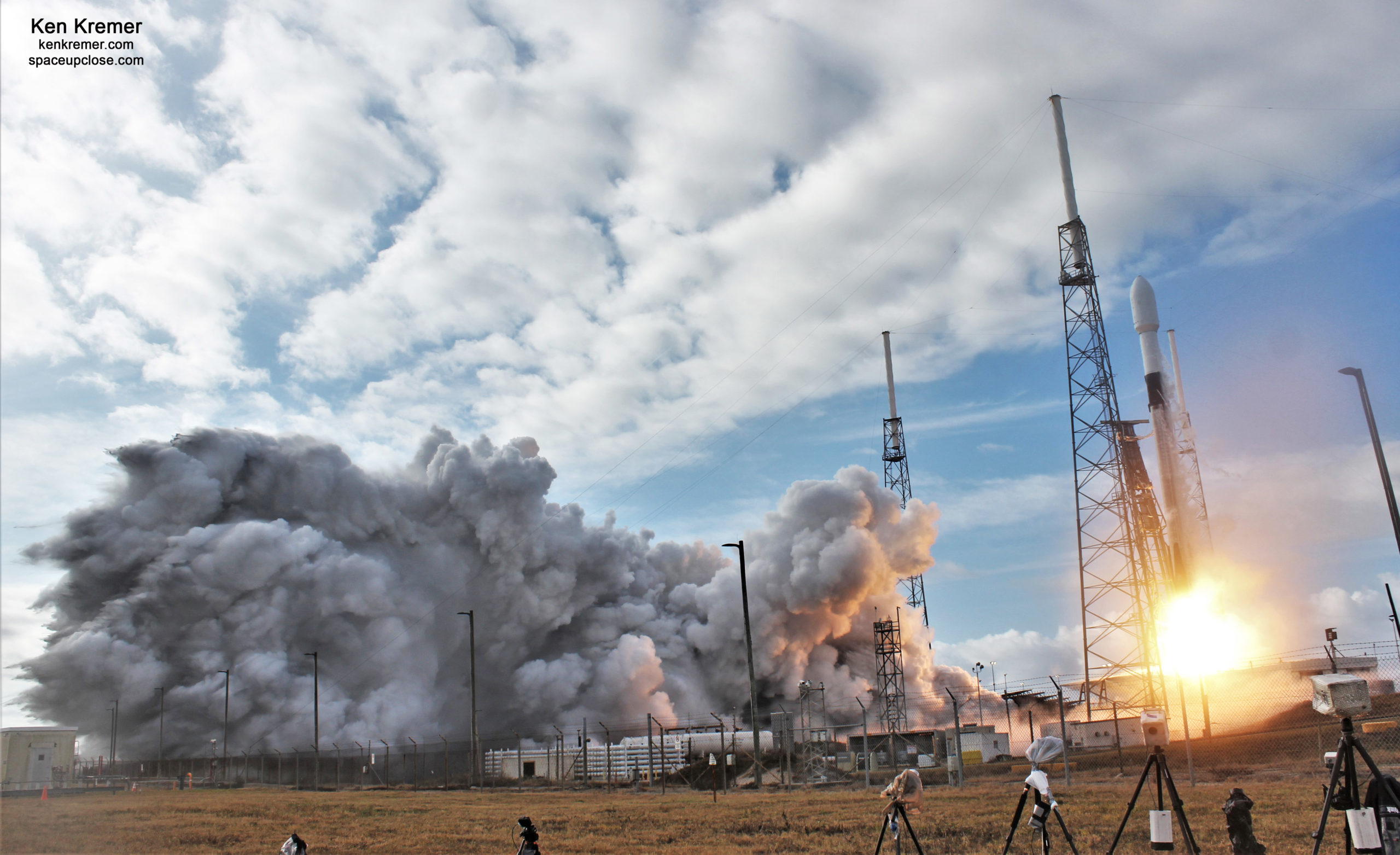 SpaceX Soars with Record Setting Rideshare Satellite Sunday Launch on Rare Southerly Trajectory: Photos