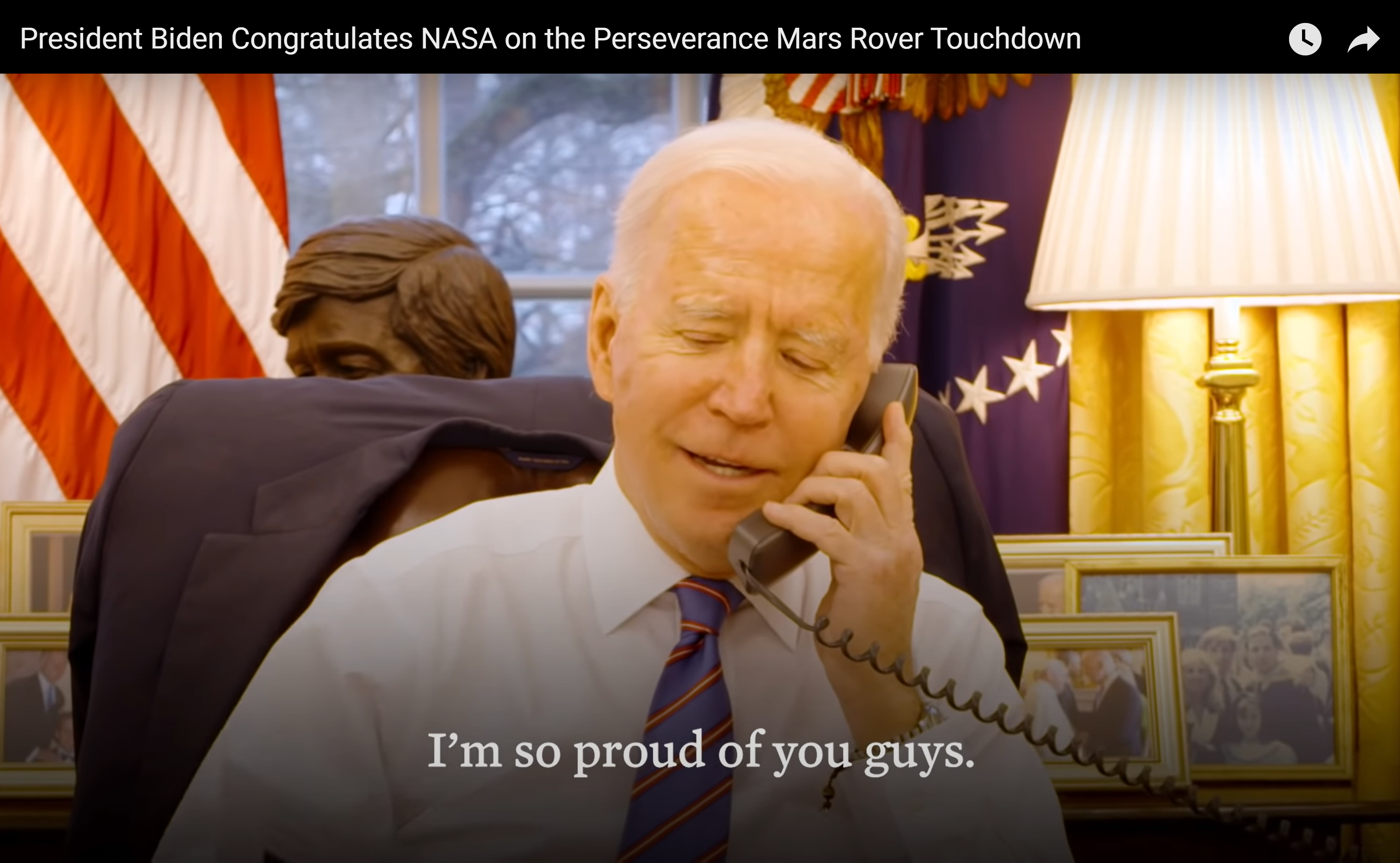 President Biden Calls to Congratulate NASA on Perseverance Mars Rover Touchdown: Watch Video
