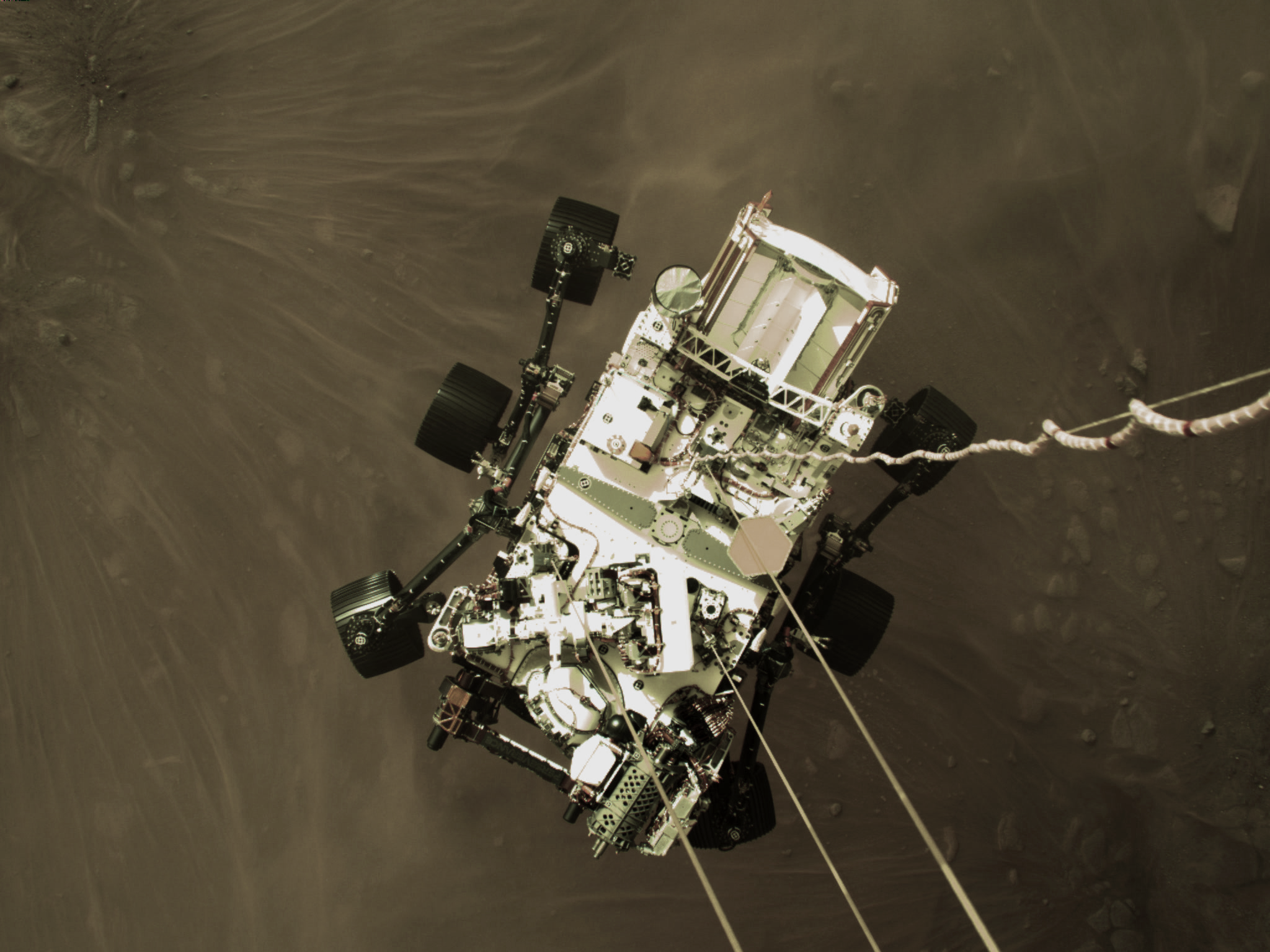 Perseverance Rover Beams Back Iconic Landing Image Selfie