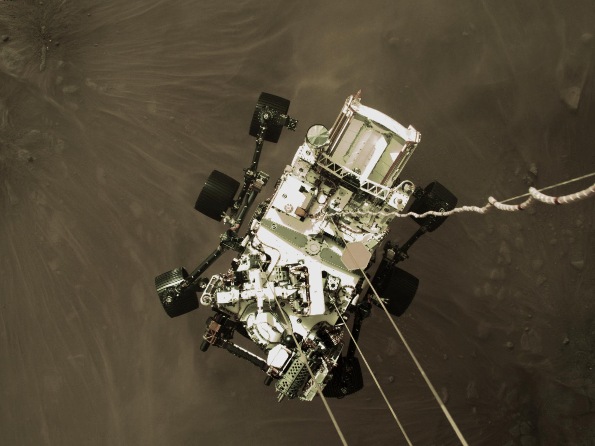 Perseverance Rover Beams Back Iconic Landing Image Selfie