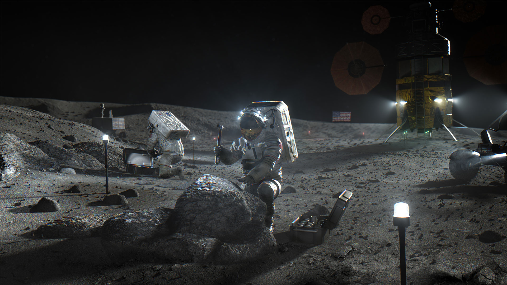 Biden White House Backs NASA's Project Artemis Human Moon Landing Goal