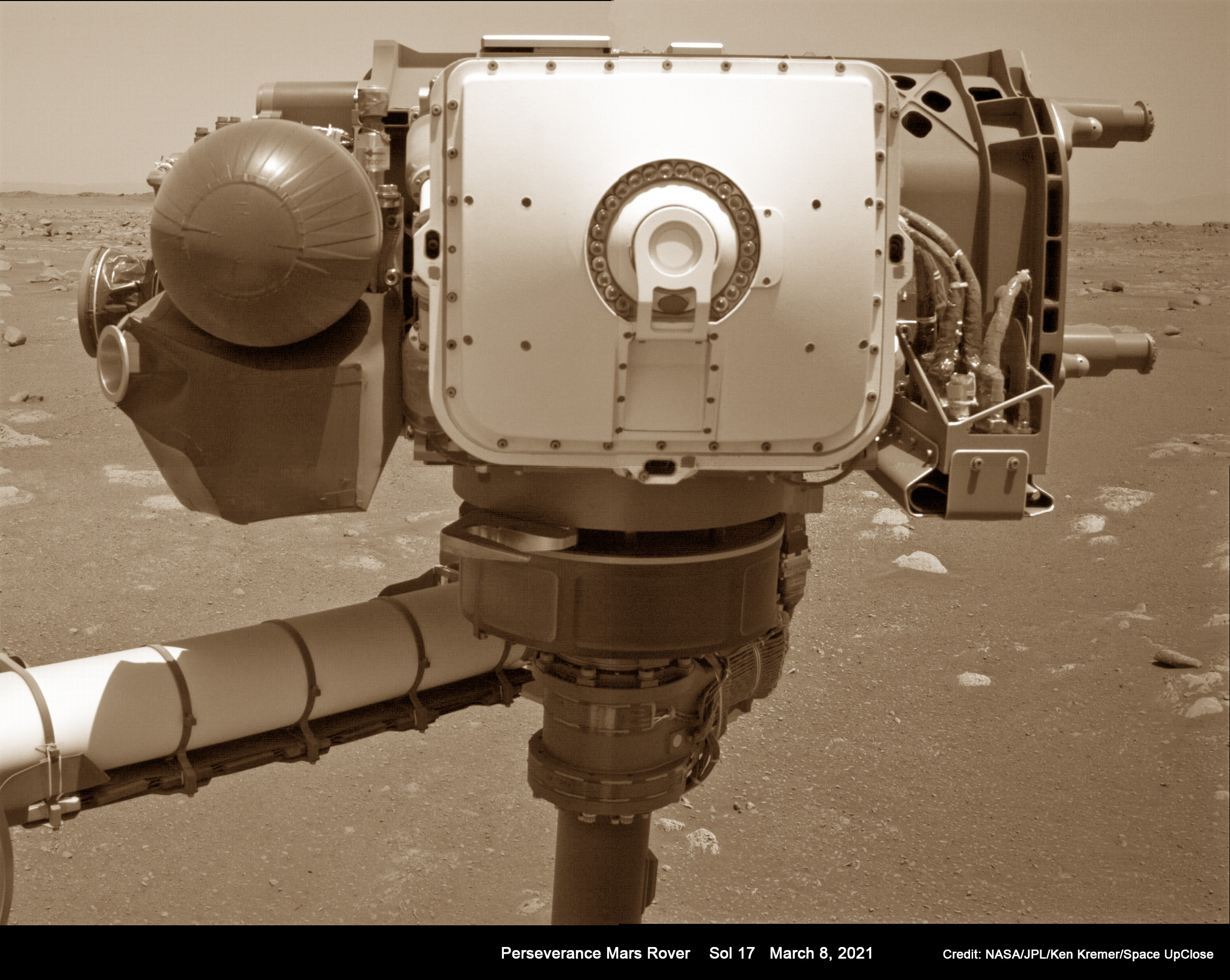 NASA's Perseverance Rover Flexes Robotic Arm on Mars 1st Time: Mosaic