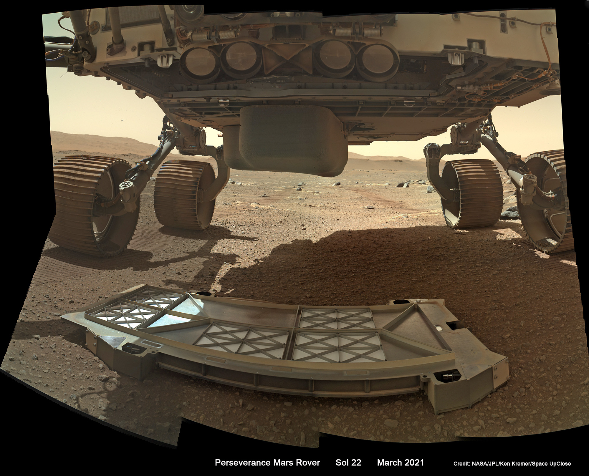 Perseverance Rover Records 1st Sounds of Driving on Mars + Belly Pan Mosaics