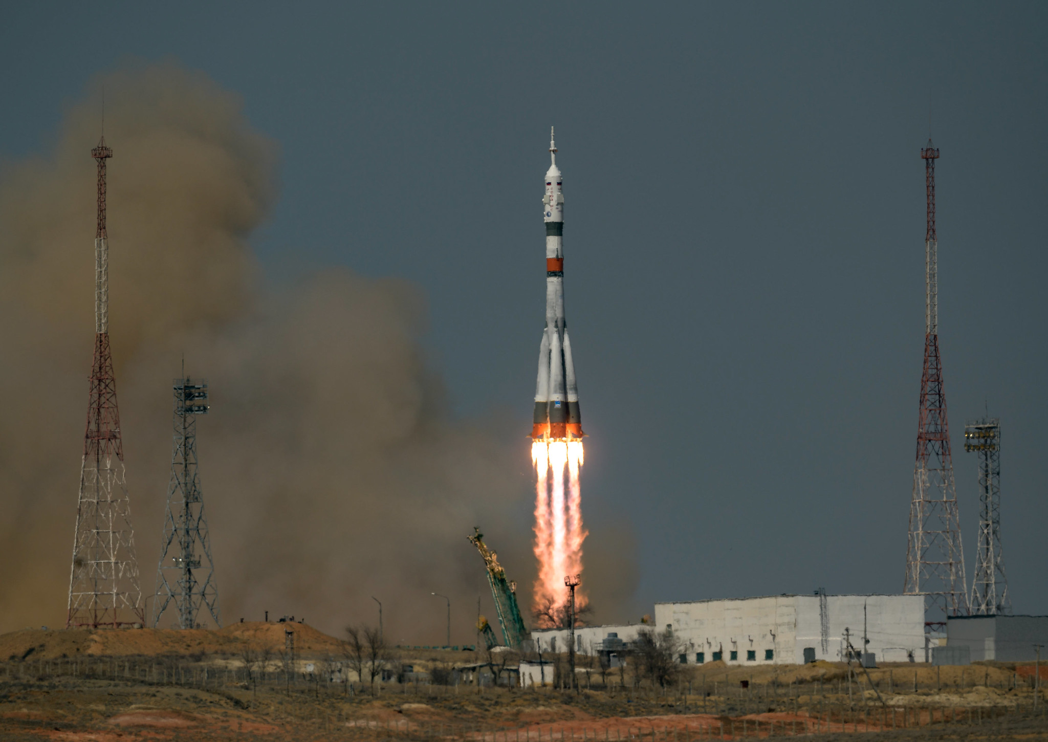 Russian American Trio Launches on Soyuz  to ISS Kicking Off Busy April of Crew Swaps