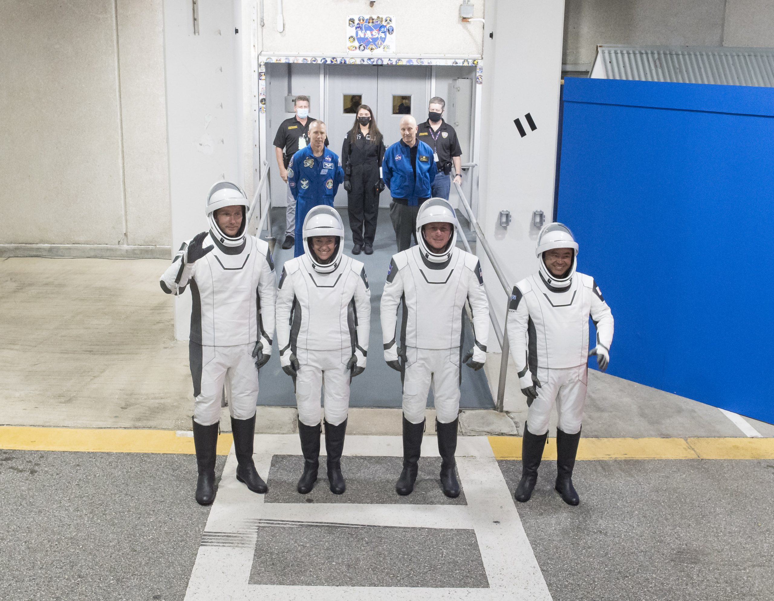 Crew-2 Astronauts and NASA SpaceX Launch Teams Practice Procedures and Complete Static Fire Test for April 22 Launch