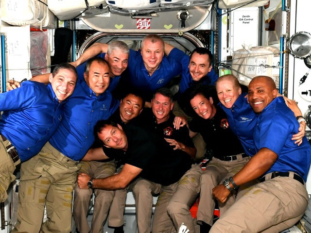 NASA SpaceX Crew 2 Dragon Docks to ISS Making Happy Eleven Resident Crew!