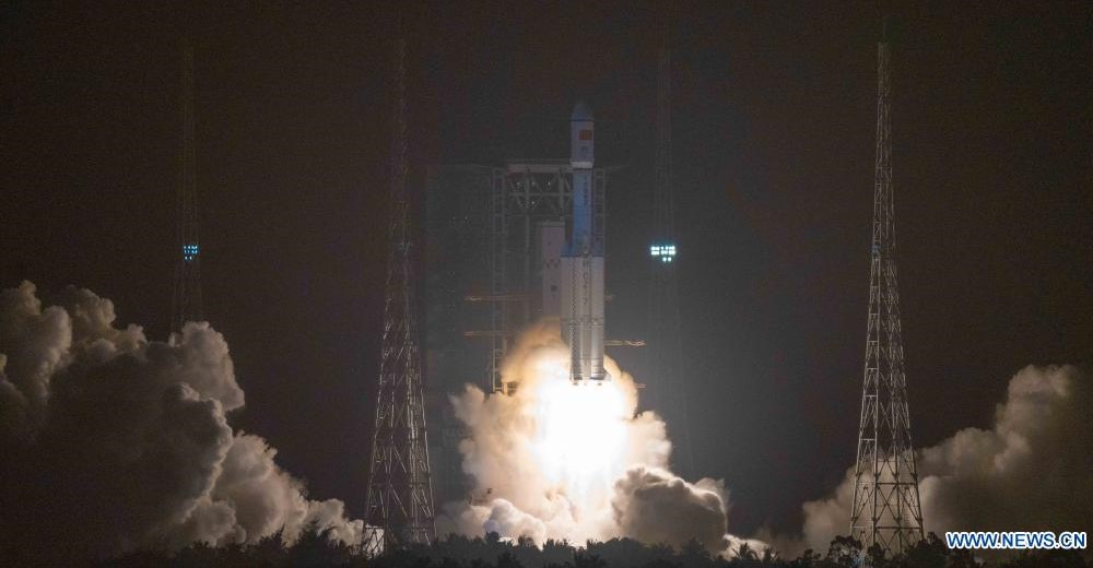 Tianzhou-2 Cargo Ship Launches and Docks to China Space Station Core Module