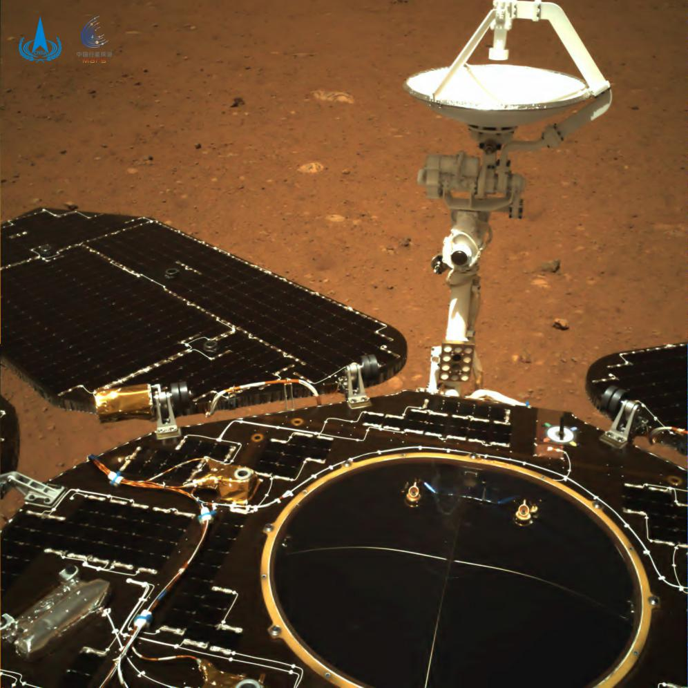 China Releases 1st Pictures from Zhurong Mars Rover after 1st Soft Landing on Red Planet