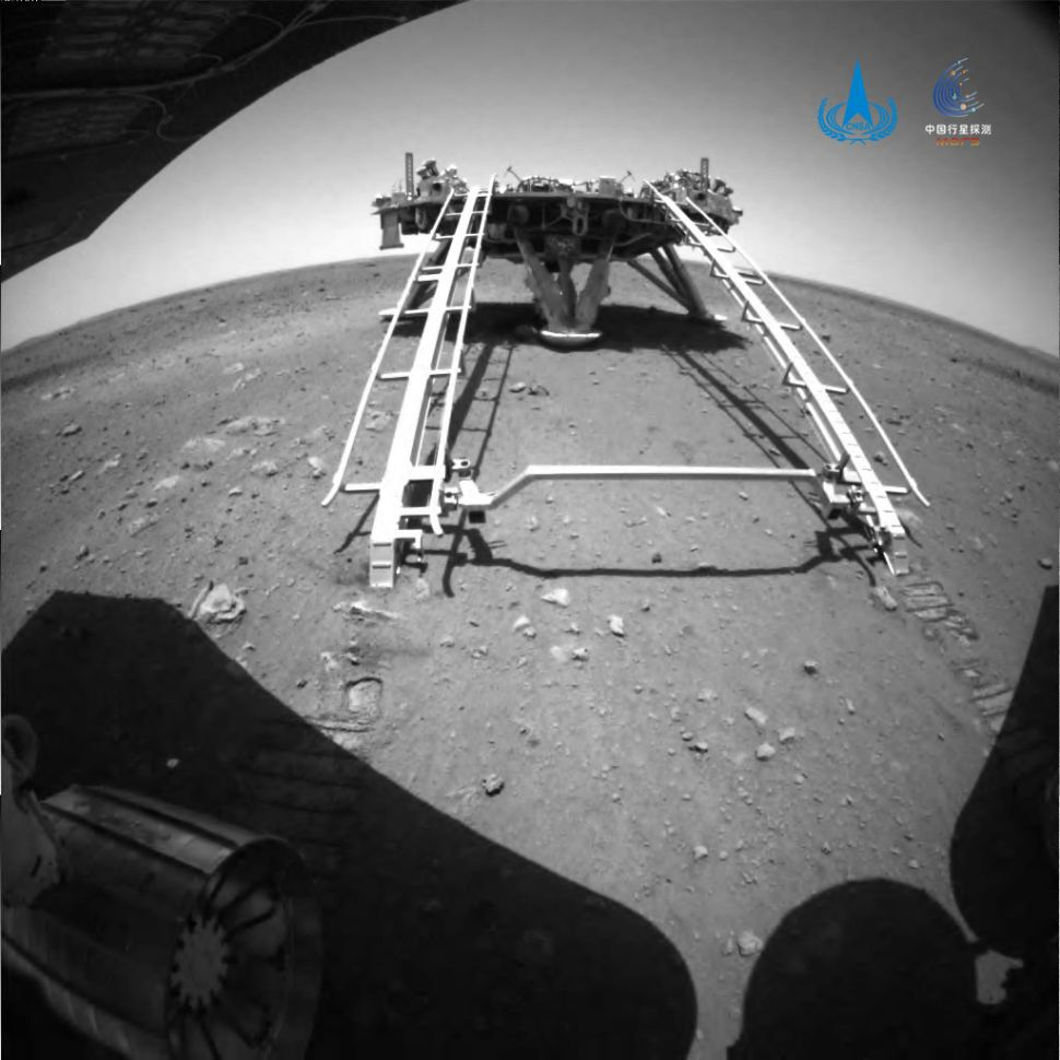 China Zhurong Rover rolls onto Mars Starting Mobile Mission