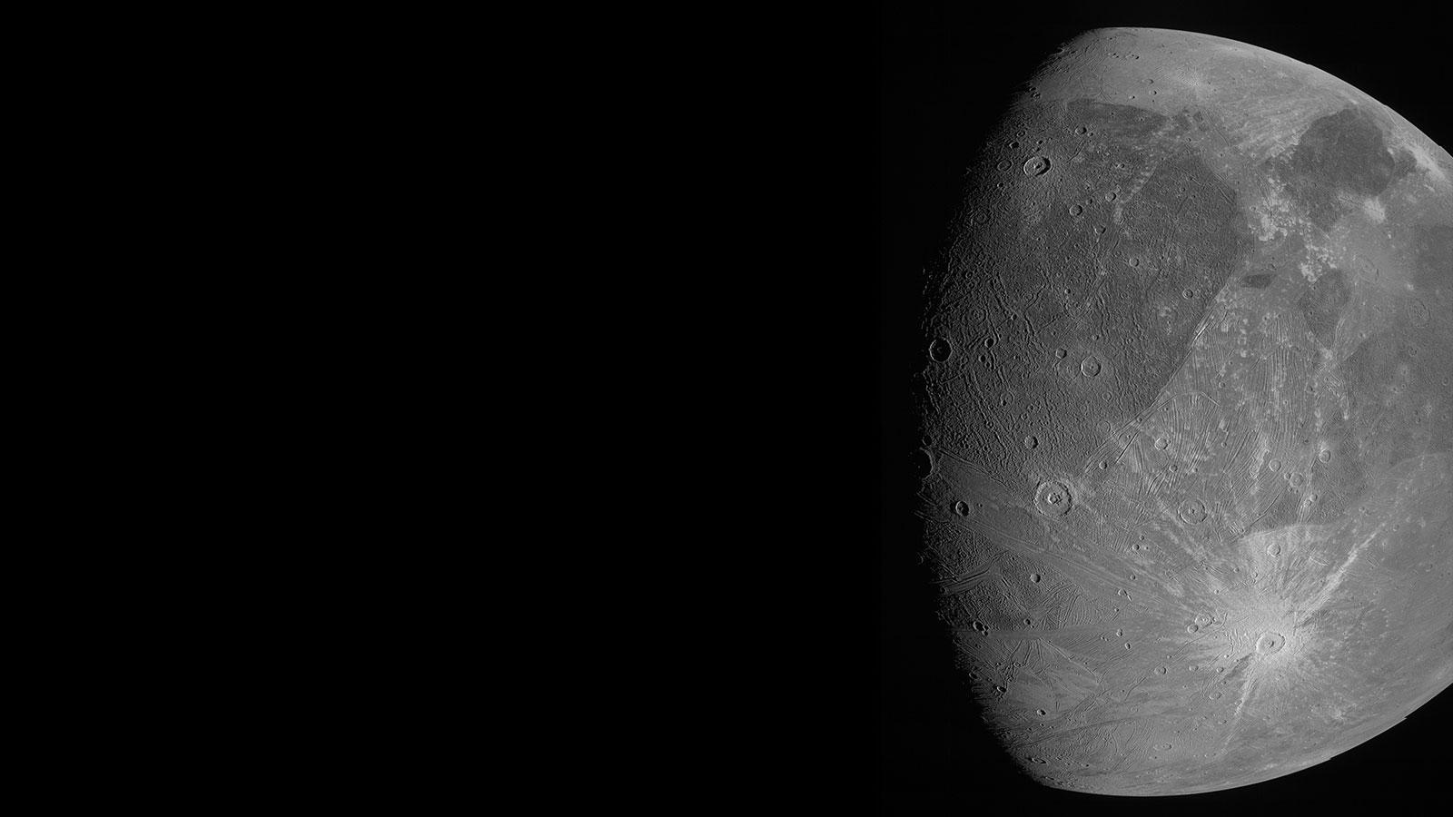 Hello Ganymede! NASA's Juno Jupiter Orbiter Captures 1st UpClose Images of Jupiter Moon in 2 Decades