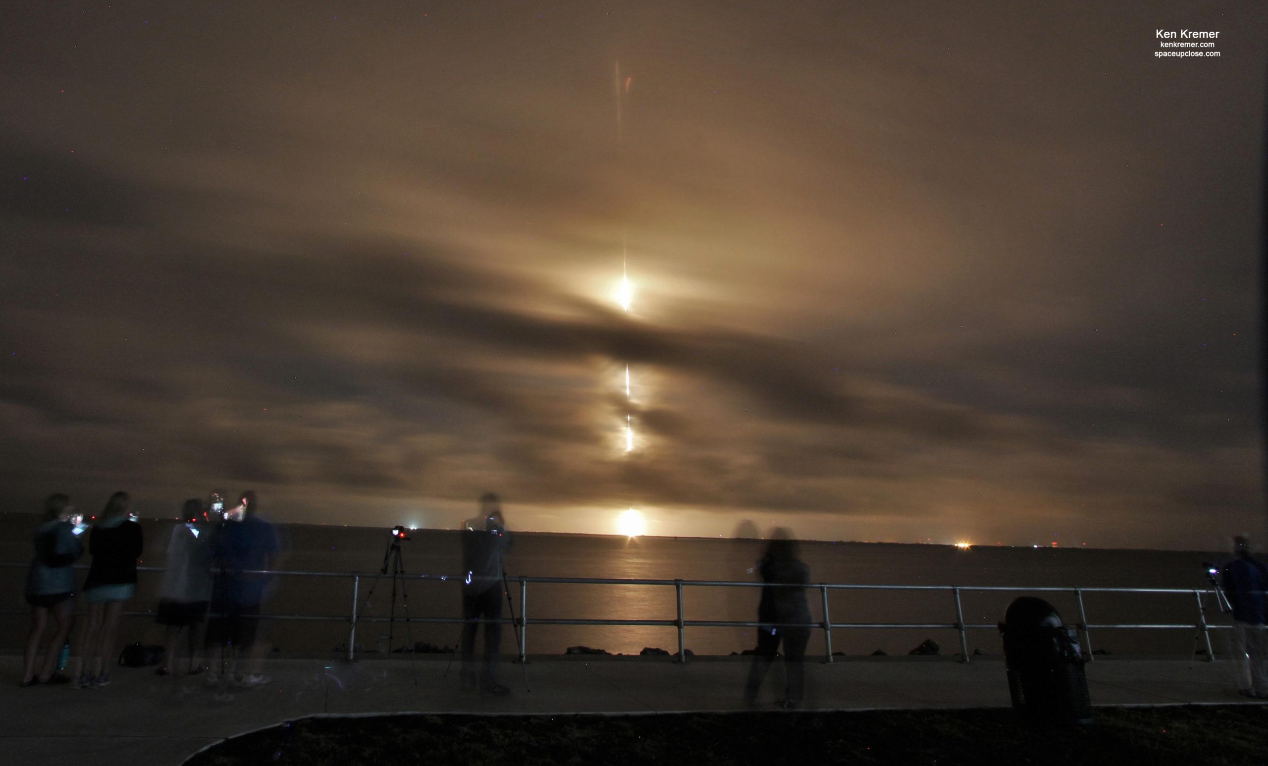 Midnight Sunday Streak Hurls SiriusXM SXM-8 Digital Radio Satellite to Orbit on SpaceX Falcon 9: Photos