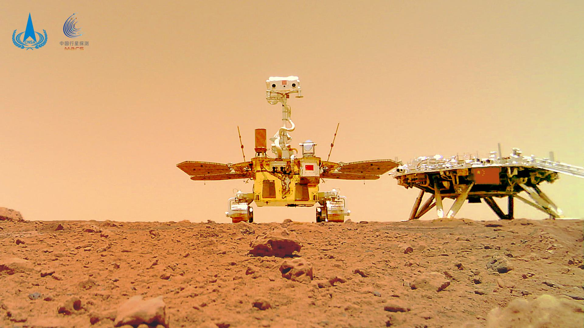China Zhurong Rover Snaps Unique Stunning Selfie with Lander Platform on Red Planet