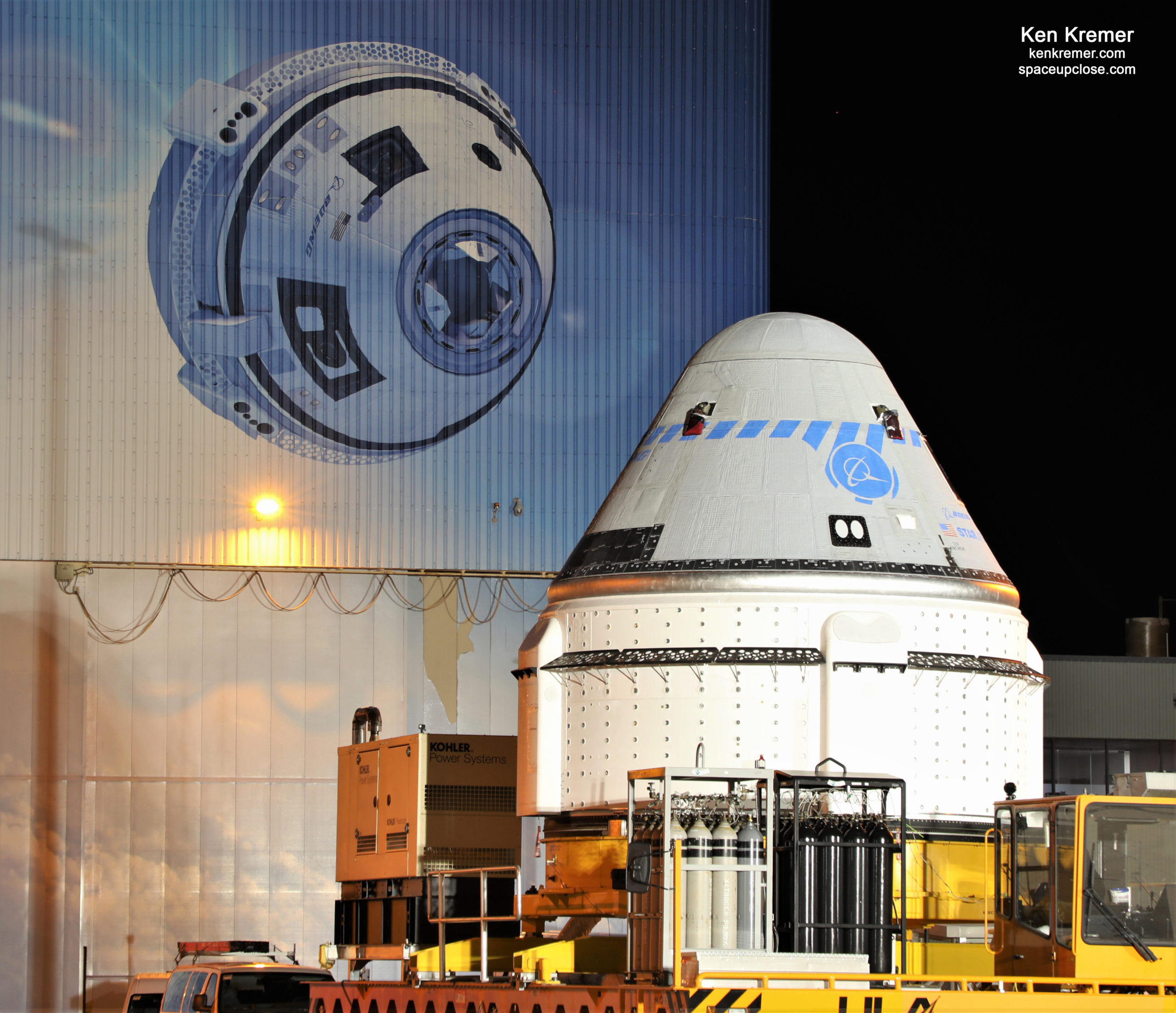 Boeing Starliner Rolls Out to Launch Pad and Mated on ULA Atlas V Rocket for Redo Test Flight to ISS: Photos
