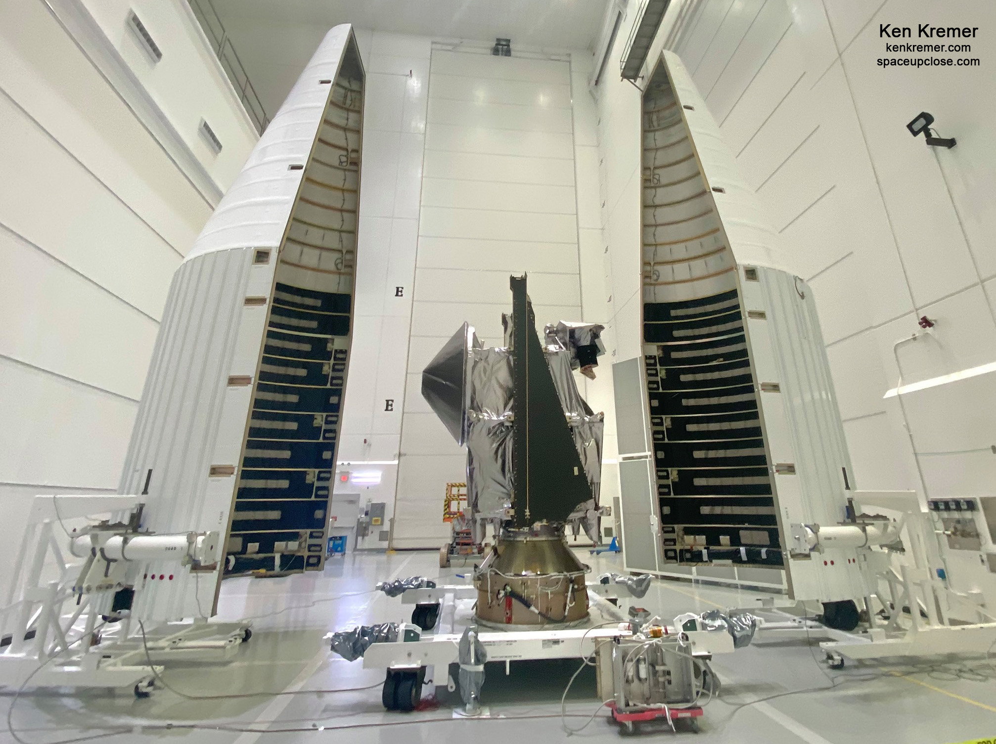 UpClose with NASA Lucy Asteroid Explorer Spacecraft in the Cleanroom: Photos